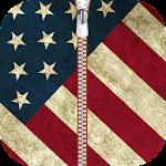 American Zipper Lock Screen Icon