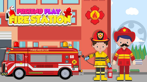 Pretend Play Fire Station: Town Firefighter Story android2mod screenshots 12