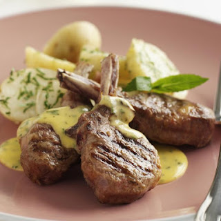 Lamb Chops with Mint Hollandaise