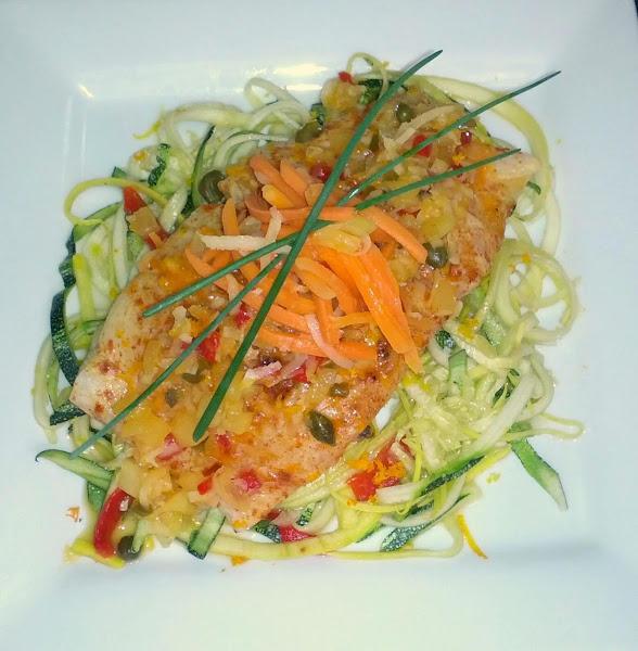Citrus Grilled Corvina With Grilled Squash Recipe