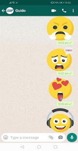 New Emojis Stickers 4D Animated WAStickerApps for PC-Windows 7,8,10 and Mac apk screenshot 2