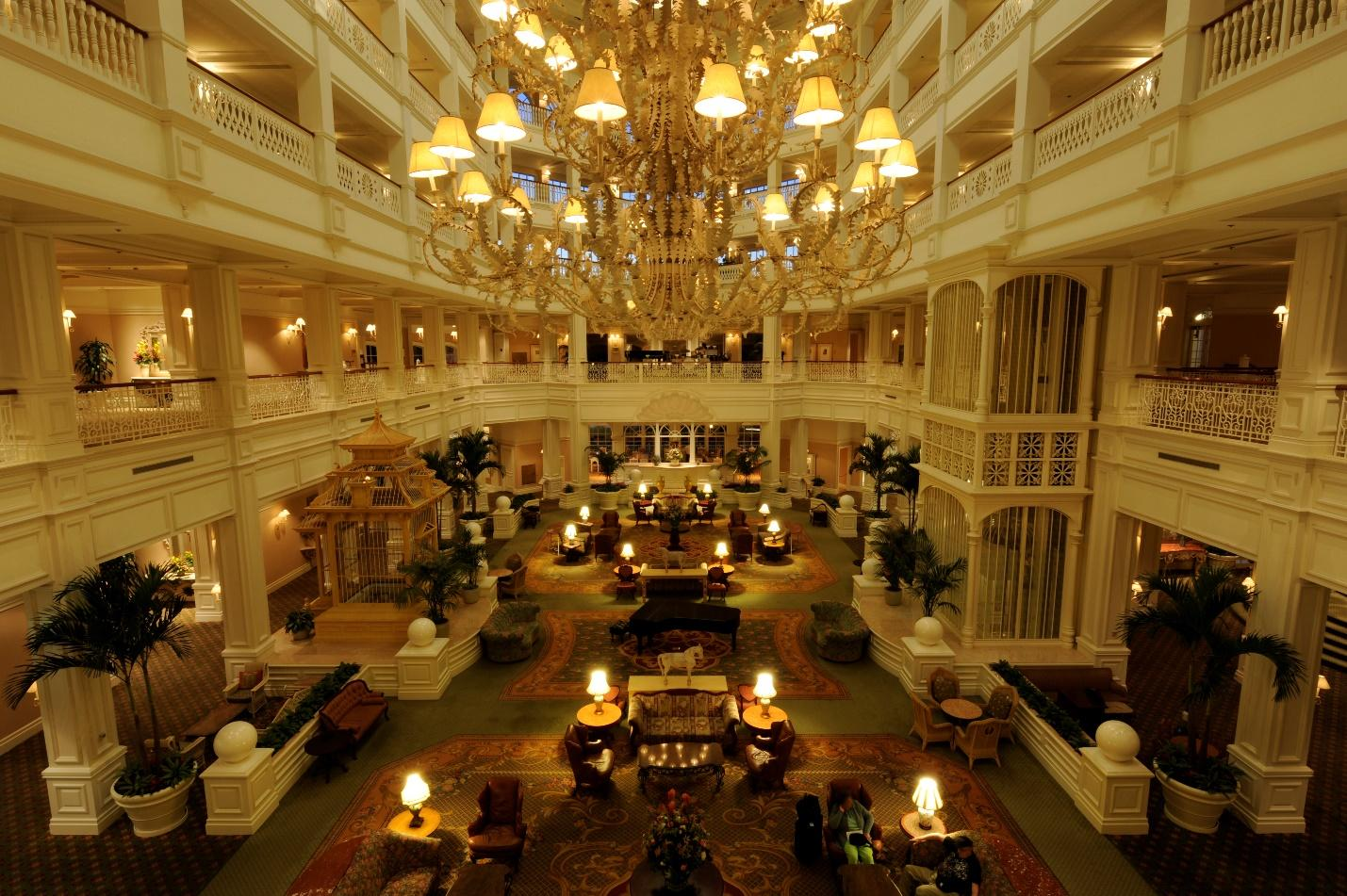 Disney resort inside main entrance
