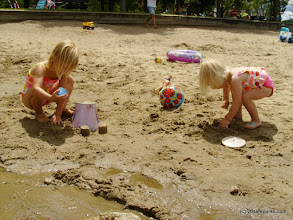 Photo: Playing in the sand at Boulder Beach State Park by Michelle Boucher