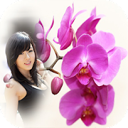 orchid photo frames costume montage editor