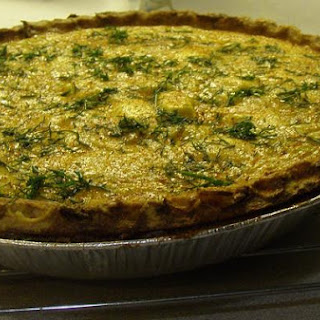 Pumpkin and Goat Cheese Quiche With Fennel and Onions