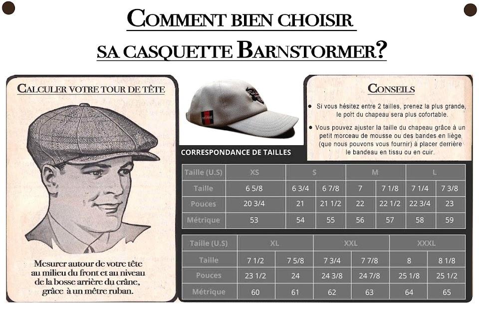 casquette hélice éclair dassault aviation barnstormer vintage guide des taille
