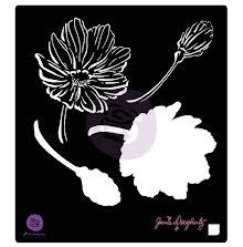 Prima Jamie Dougherty Bloom Stencil 6X6 - Anenome