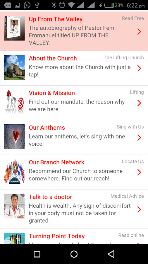 Livingspring Mobile- screenshot