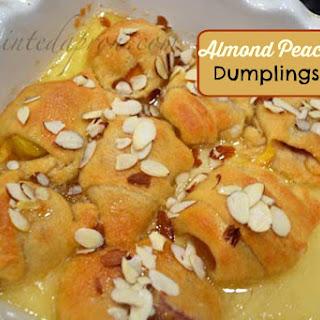 Almond Peach Dumplings