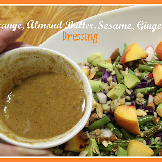 Orange, Almond Butter, Sesame, Ginger Dressing