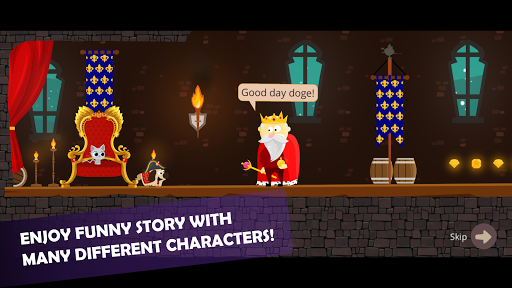 Doge and the Lost Kitten - 2D Platform Game apkmr screenshots 2