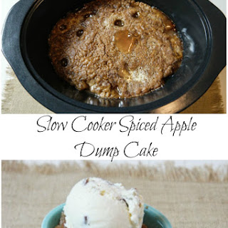 Slow Cooker Spiced Apple Dump Cake