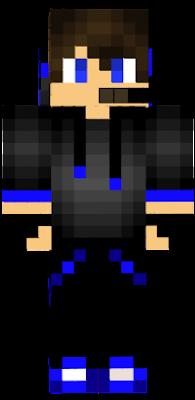 He's a gamer. he's blue. Blue Gamer...Boy