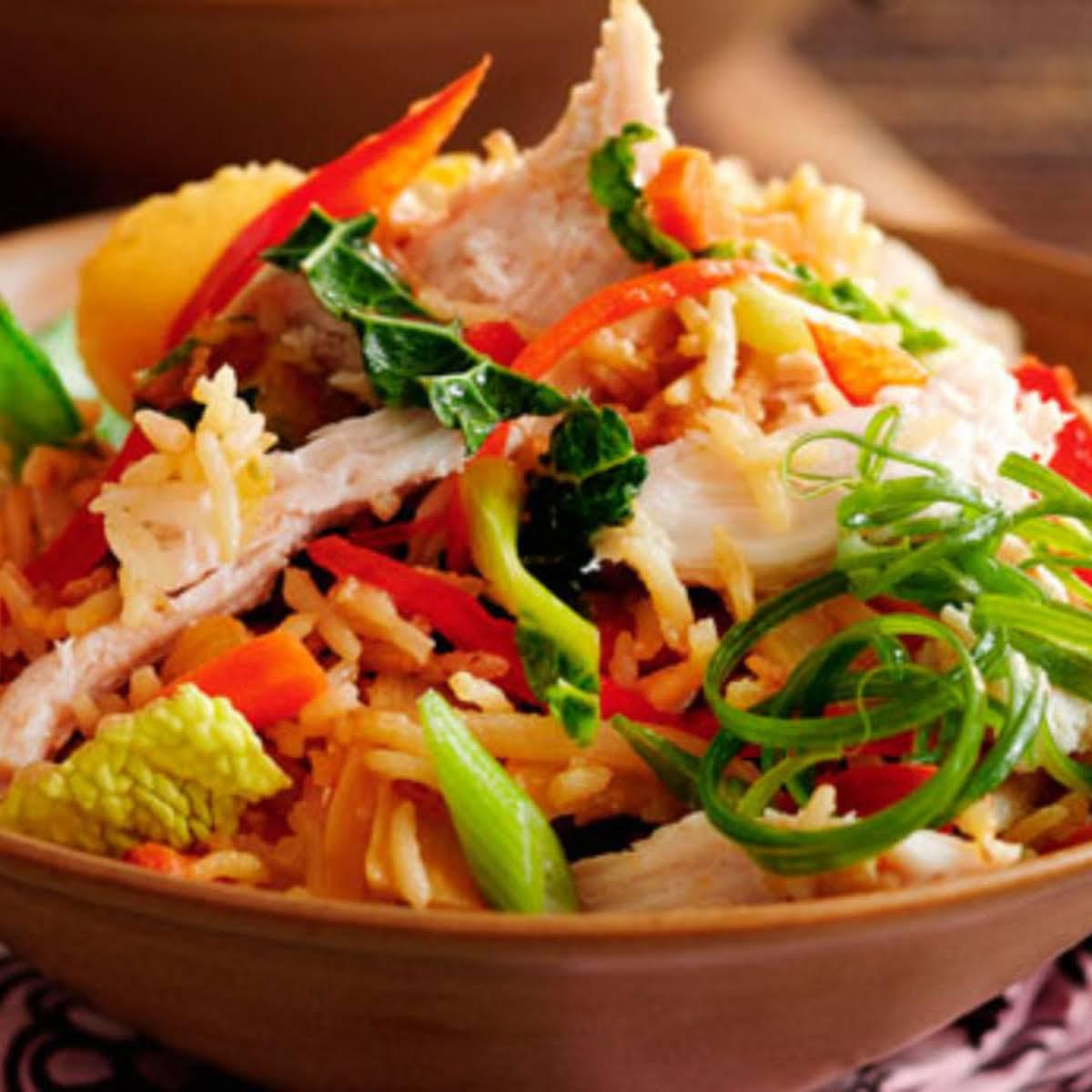 Slimming Worlds Speedy Vegetable And Chicken Rice Recipe
