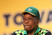 Outgoing president of the ANC, Jacob Zuma, on day two of the 54th national conference.