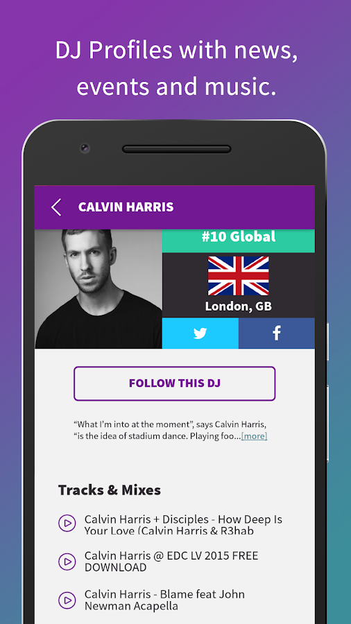 The DJ List - Events and Music- screenshot