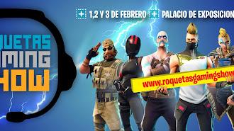 Cartel de Roquetas Gaming Show.