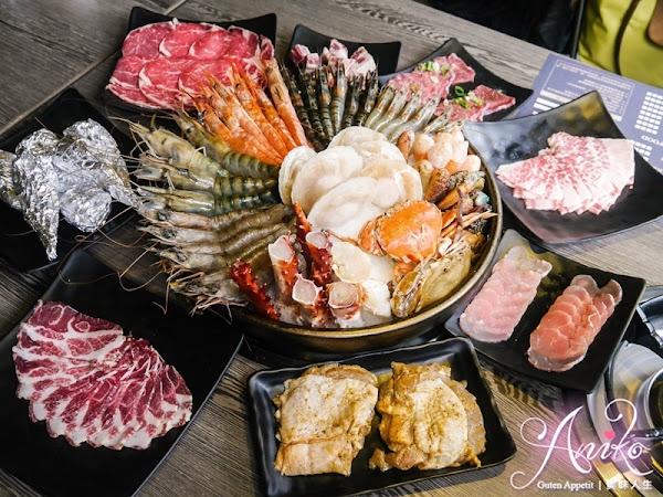 上禾町日式燒肉 (西門旗艦店)。帝王蟹、澳洲和牛、伊比利豬、豪華海鮮通通讓你吃到飽