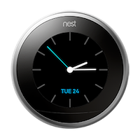 Nest thermostat farsight clock