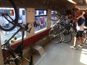 Photo: Il vagone biciclette del treno Bassano-Trento delle 08:17