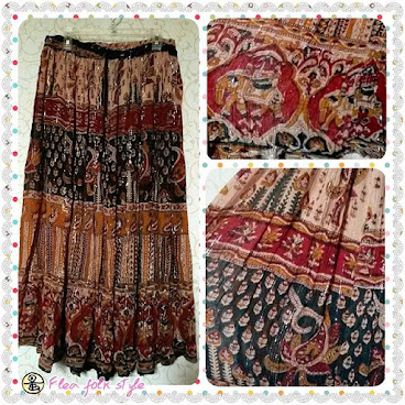 印度中長裙- 多色 (Indian mid length skirt- multi colors)