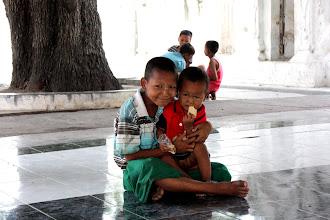 Photo: Year 2 Day 55 -   Children at Kuthodaw Paya