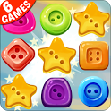 Match Button - 6 games in one icon