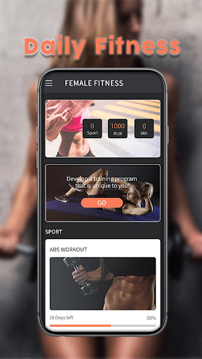 Female Fitness-keep fit and good body management. screenshot 1