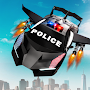 Flying Police Car Transform Robot Shooting Games