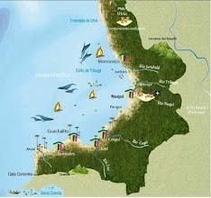 Photo: Mapa de Nuquí y sus alrededores: Panguí, Coquí, Joví, Arusí; Tribugá, Juribirá, Utría ....  http://www.posadasturisticasdecolombia.com/destino/nuqui-colombia/