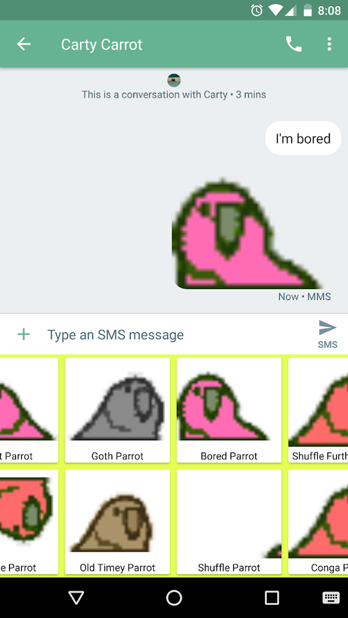 Party Parrot Keyboard- screenshot