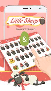 Little Sheep Theme&Emoji Keyboard - náhled