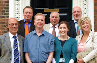Photo: NRW Restorators Delegation with National Trust, from left to right: Franz Noll, Andreas Zawierucha, Rory Cullen (NT), Mr Koenig, Lizzie Long (NT), Eberhard Juengst, Marie Theres Luetje