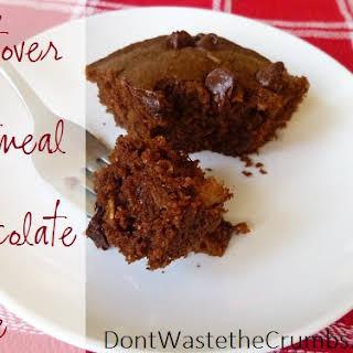 Leftover Oatmeal Chocolate Cake.