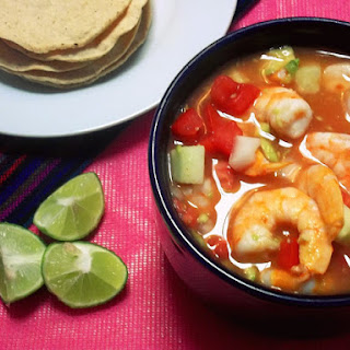 (Mexican Shrimp Cocktail).