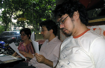 Photo: Café Literário: Lilian Aquino, Heitor Ferraz e Paulo Ferraz