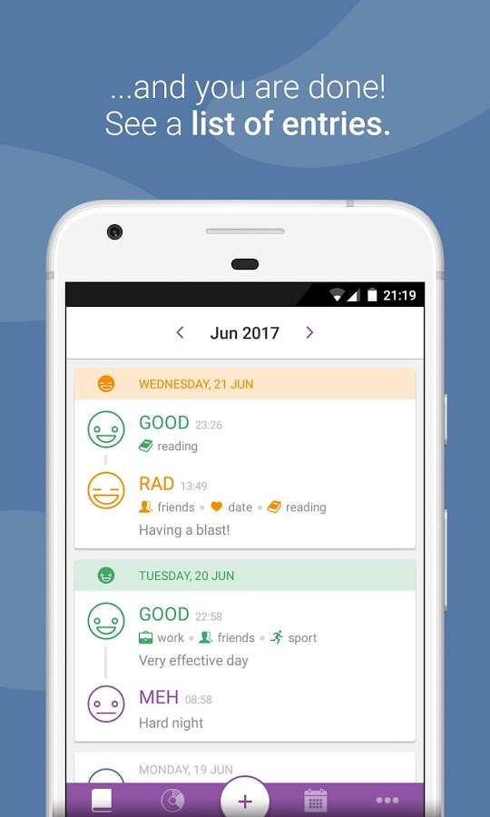Daylio - Diary, Journal, Mood Tracker- screenshot