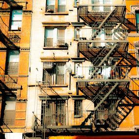 by Leann Shamash - Buildings & Architecture Architectural Detail ( lower manhattan, color, june 2012 )