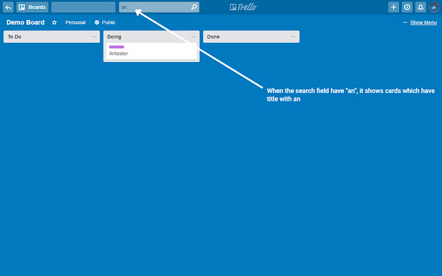 Quick Card Search and Filter For Trello