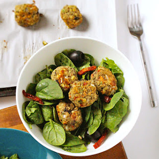 "Mediterranean Mung Bean and Olive ""Meatballs"""