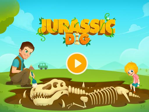 Jurassic Dig - Dinosaur Games for kids apkpoly screenshots 9