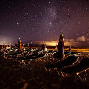 Starry sky by Wojciech Toman - Landscapes Starscapes