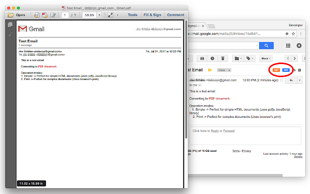 Gmail to PDF