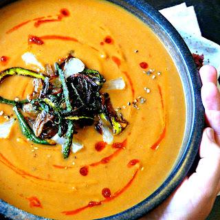 Spicy Moroccan Zucchini & Cauliflower soup.
