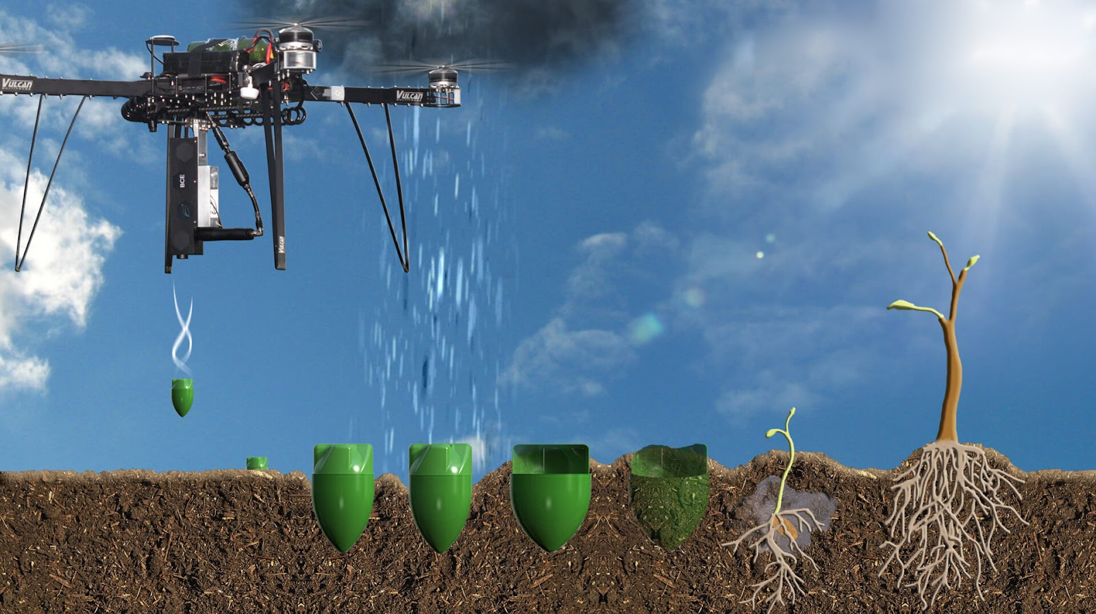 Tree planting drone for climate change