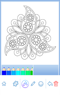 Flowers Mandala Coloring Book Screenshot Thumbnail