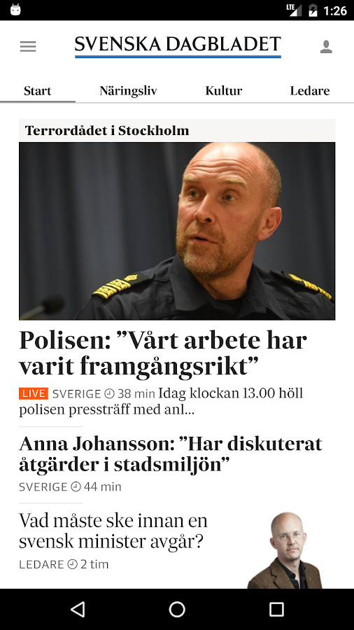 Svenska Dagbladet- screenshot
