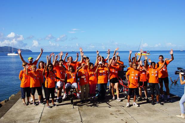 Semi Marathon de Fort de France 2015 - équipe au profit du projet de L'Arche en Martinique