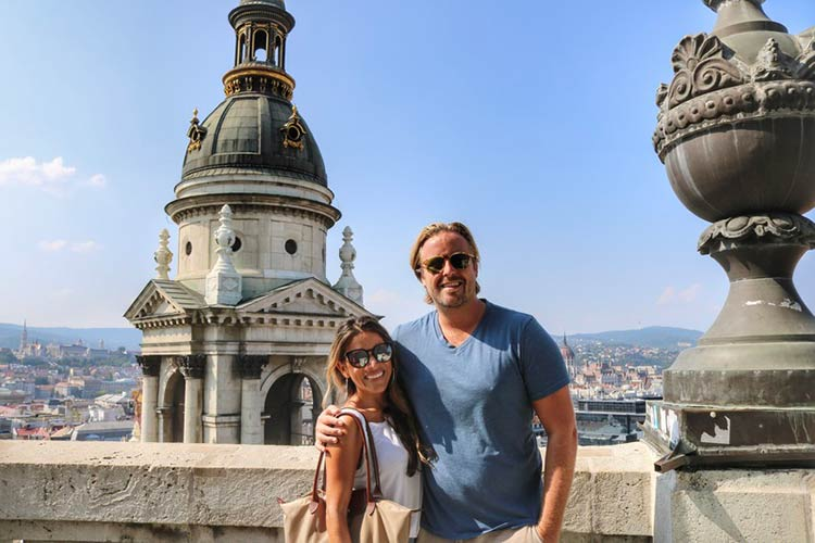 Me and Scott atop scenic St. Stephen's Basilica.