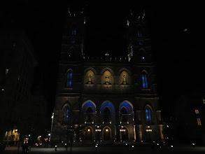 Photo: Basilica of Notre Dame at night